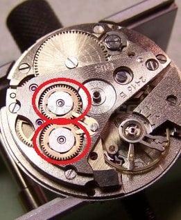 Reversión de la rueda para Vostok 24** calibre movimiento