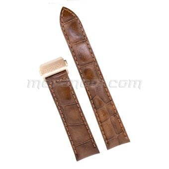 Vostok Watch Brown leather strap 20mm deployment folding clasp