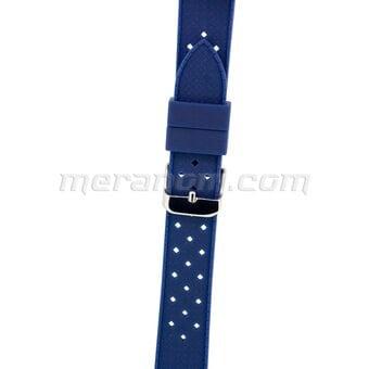Vostok Watch Silicon Strap Anti Dust 18mm Blue