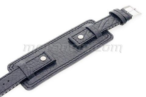 Vostok-Europe Original Strap Black Black Stitching 18mm