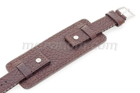 Vostok-Europe Original Strap Brown Brown Stitching 18mm