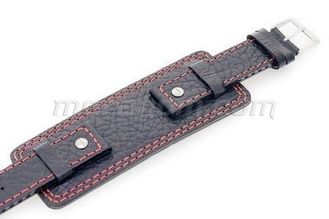 Vostok-Europe Original Strap Brown Red Stitching 20mm